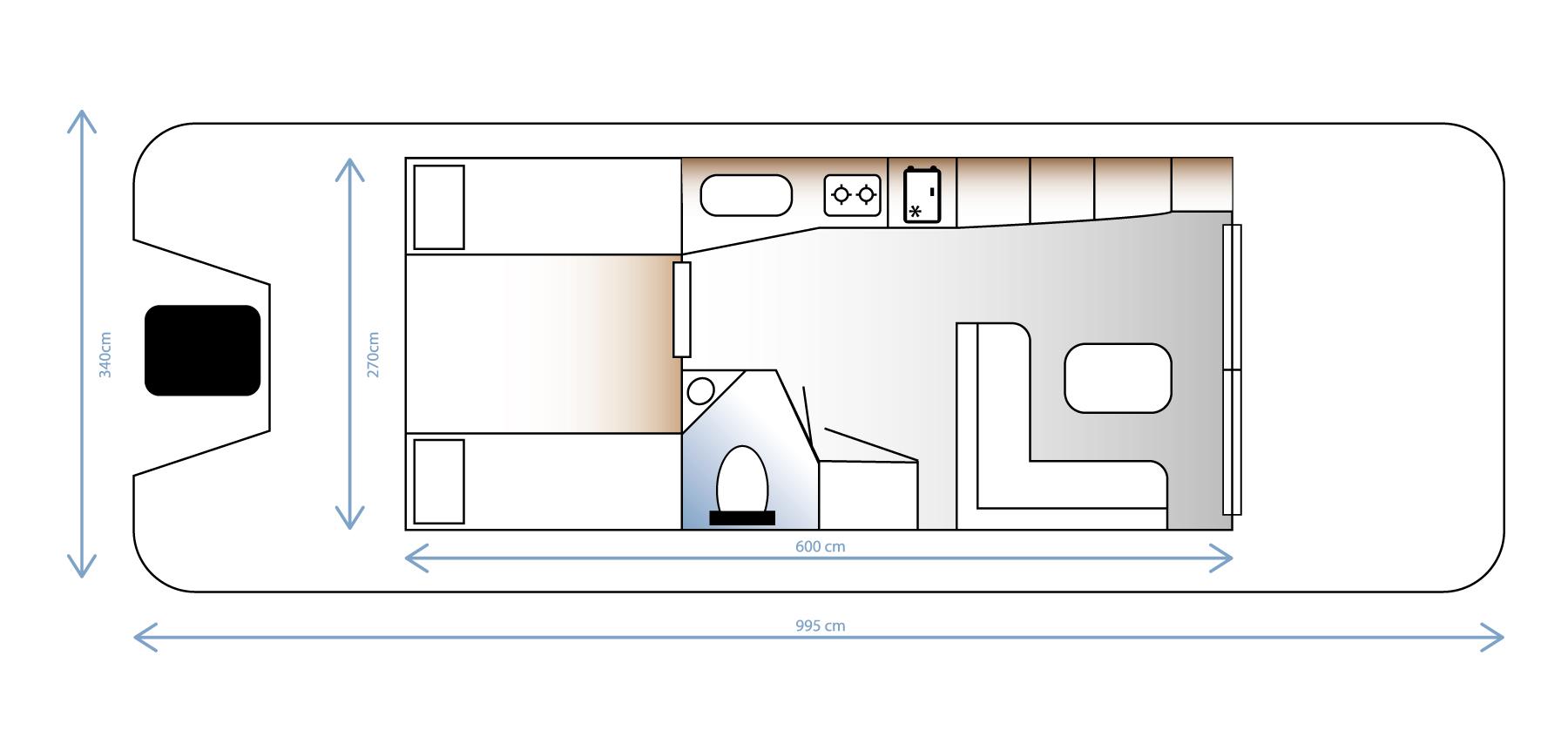 Plattegrond interieur Comfortraft